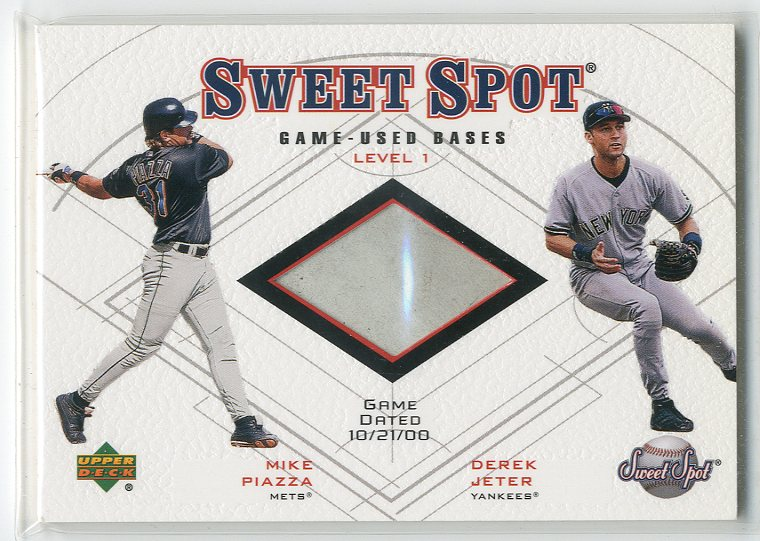 2001 Sweet Spot Game Base Duos #B1JP Mike Piazza/Derek Jeter