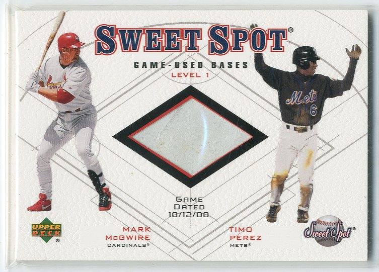 2001 Sweet Spot Game Base Duos #B1MP Mark McGwire/Timo Perez