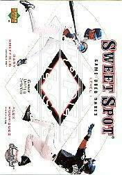 2001 Sweet Spot Game Base Duos #B1SR Gary Sheffield/Alex Rodriguez