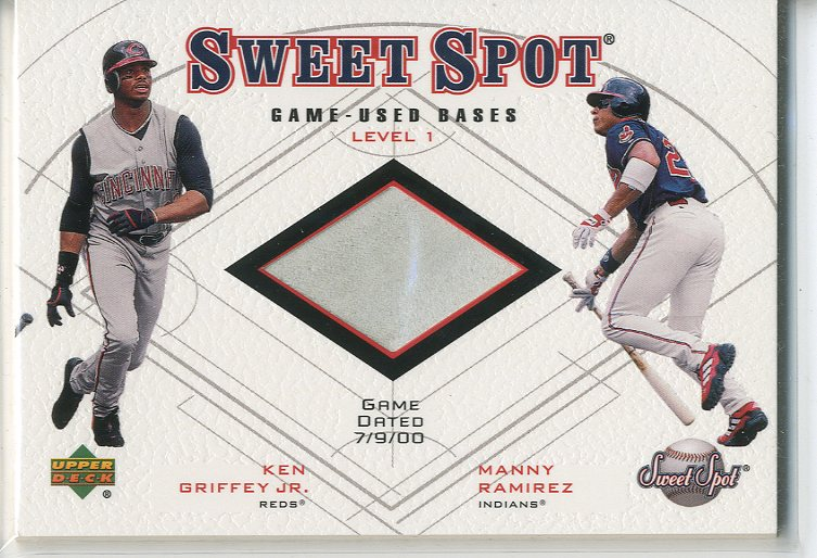 2001 Sweet Spot Game Base Duos #B1GRA Ken Griffey Jr./Manny Ramirez