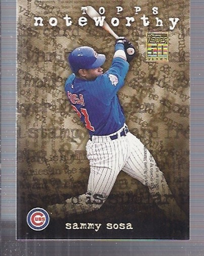 2001 Topps Noteworthy #TN3 Sammy Sosa