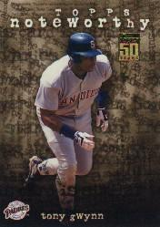 2001 Topps Noteworthy #TN18 Tony Gwynn
