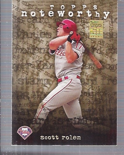 2001 Topps Noteworthy #TN21 Scott Rolen