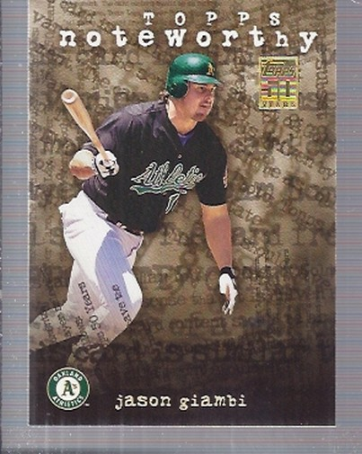 2001 Topps Noteworthy #TN22 Jason Giambi