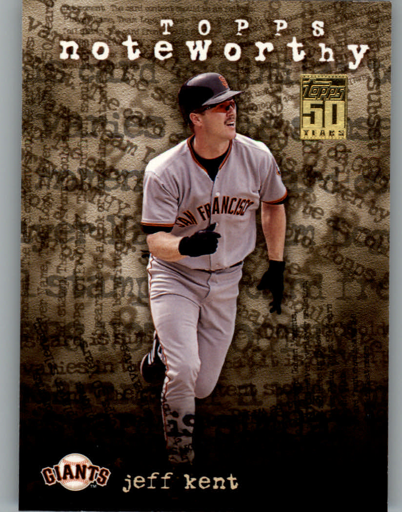2001 Topps Noteworthy #TN23 Jeff Kent