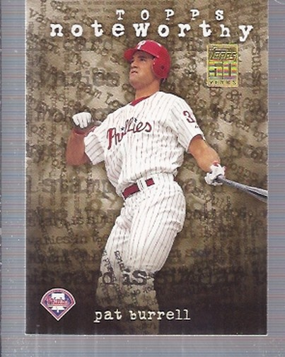2001 Topps Noteworthy #TN24 Pat Burrell