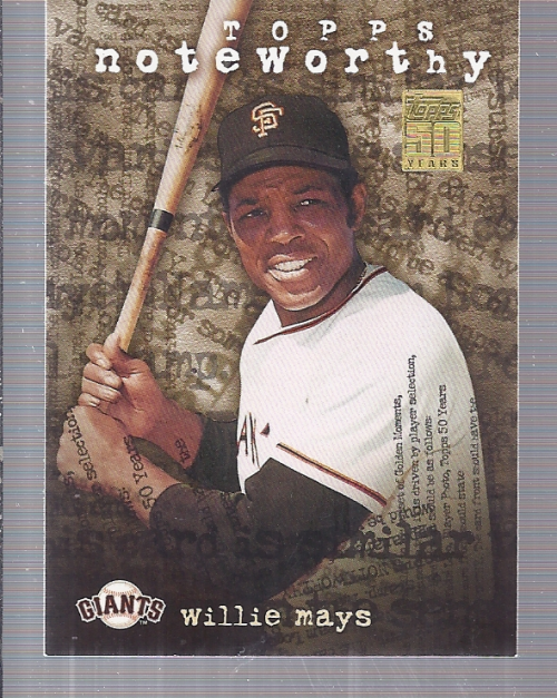 2001 Topps Noteworthy #TN26 Willie Mays