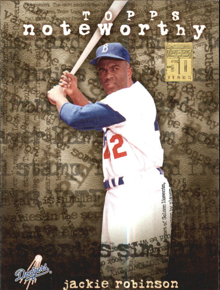 2001 Topps Noteworthy #TN28 Jackie Robinson