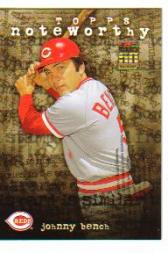 2001 Topps Noteworthy #TN39 Johnny Bench