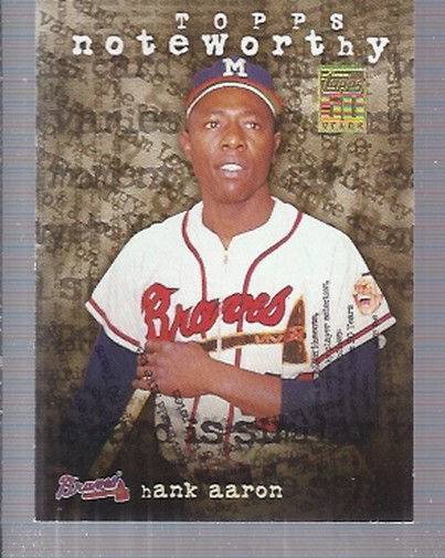 2001 Topps Noteworthy #TN44 Hank Aaron