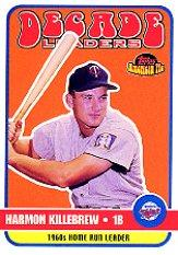 2001 Topps American Pie Decade Leaders #DL2 Harmon Killebrew
