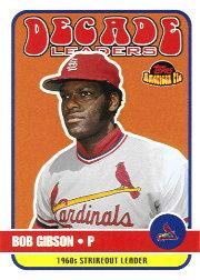 2001 Topps American Pie Decade Leaders #DL8 Bob Gibson