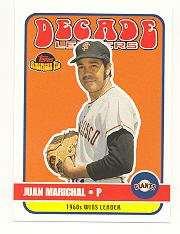 2001 Topps American Pie Decade Leaders #DL10 Juan Marichal
