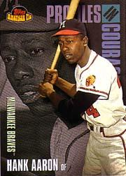 2001 Topps American Pie Profiles in Courage #PIC6 Hank Aaron front image