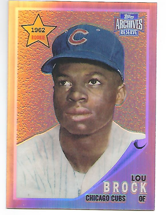 2001 Topps Archives Reserve #10 Lou Brock 62