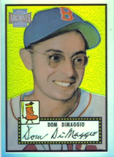 2001 Topps Archives Reserve #20 Dom DiMaggio 52