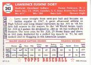 2001 Topps Archives Reserve #21 Larry Doby 52 back image