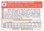 2001 Topps Archives Reserve #24 Bob Feller 52 back image