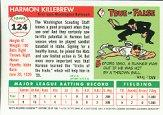 2001 Topps Archives Reserve #39 Harmon Killebrew 55 back image