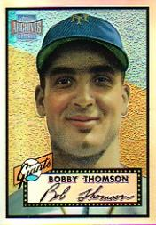 2001 Topps Archives Reserve #47 Bobby Thomson 52