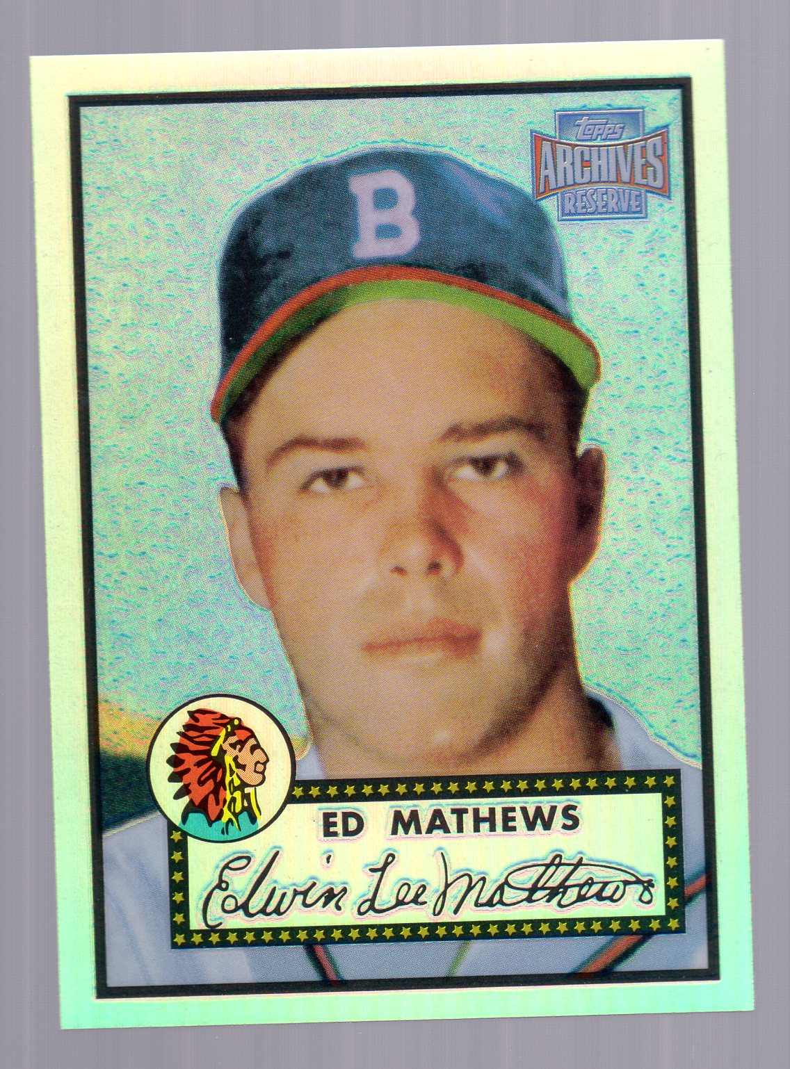 2001 Topps Archives Reserve #48 Eddie Mathews 52