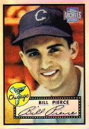 2001 Topps Archives Reserve #53 Billy Pierce 52