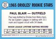 2001 Topps Archives Reserve #61 Paul Blair 65 back image