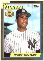 2001 Topps Archives Reserve Future Rookie Reprints #9 Bernie Williams 90