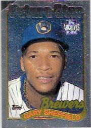 2001 Topps Archives Reserve Future Rookie Reprints #15 Gary Sheffield 89