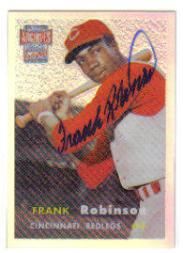 2001 Topps Archives Reserve Rookie Reprint Autographs #ARA5 Frank Robinson B