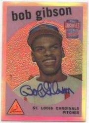 2001 Topps Archives Reserve Rookie Reprint Autographs #ARA10 Bob Gibson B