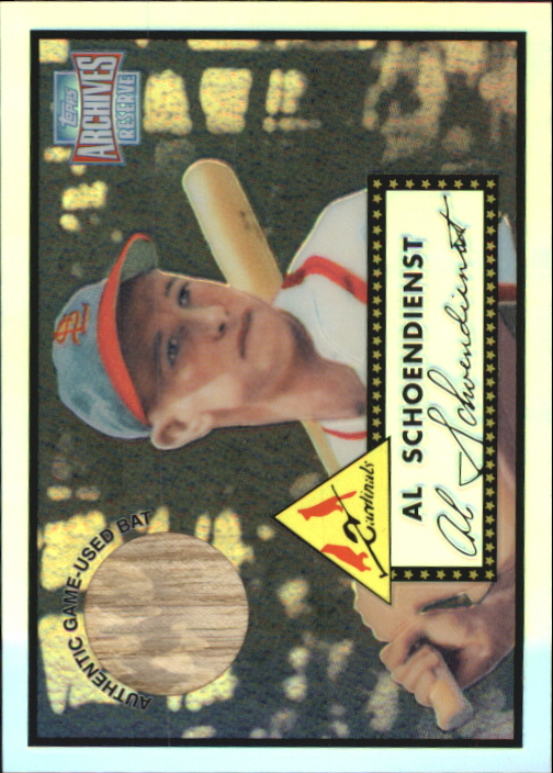 2001 Topps Archives Reserve Rookie Reprint Relics #ARR49 Red Schoendienst Bat