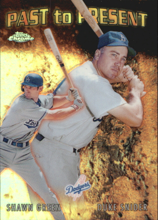 2001 Topps Chrome Past to Present #PTP6 D.Snider/S.Green