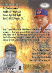 2001 Topps Chrome Past to Present #PTP7 B.Feller/B.Colon back image