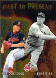 2001 Topps Chrome Past to Present #PTP7 B.Feller/B.Colon