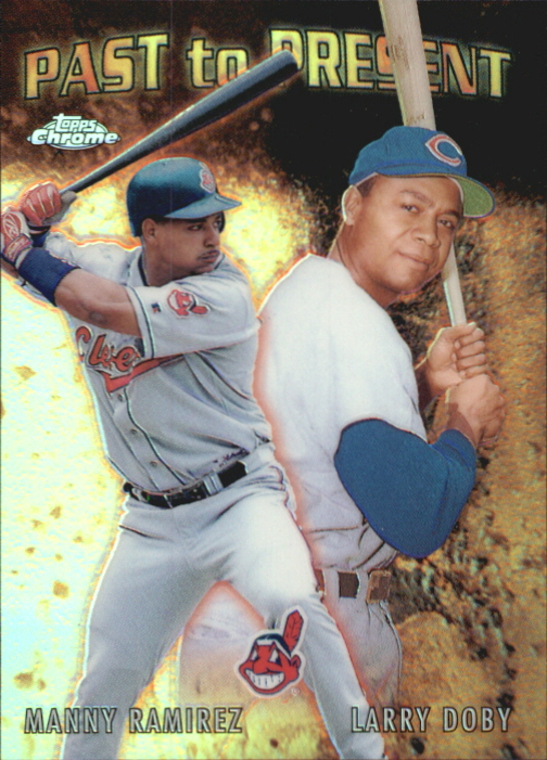 2001 Topps Chrome Past to Present #PTP9 L.Doby/M.Ramirez