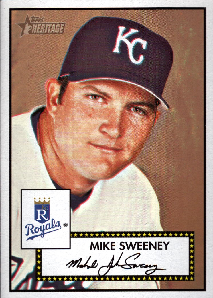 2001 Topps Heritage #4 Mike Sweeney Black