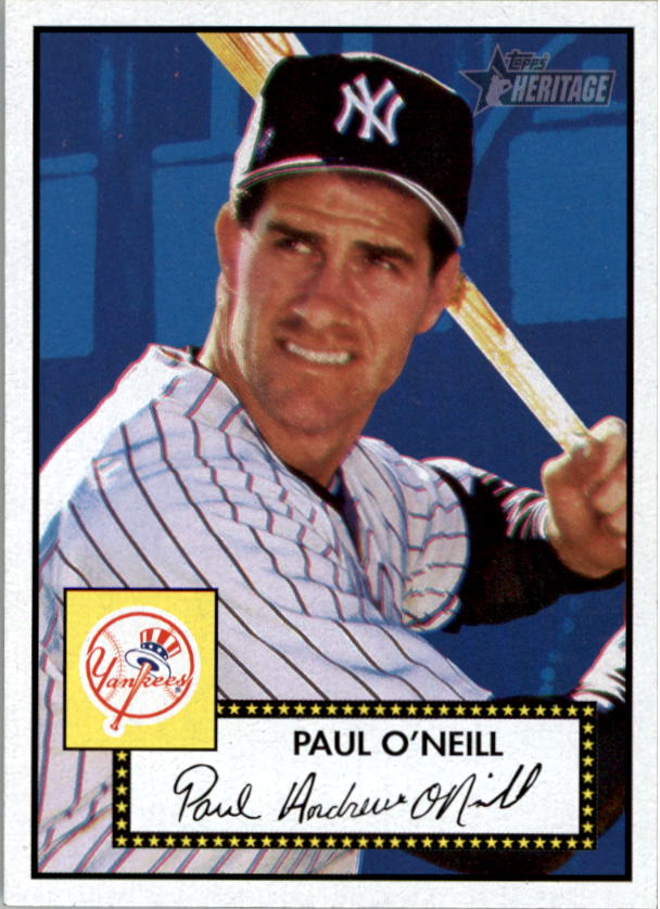 2001 Topps Heritage #6 Paul O'Neill Black