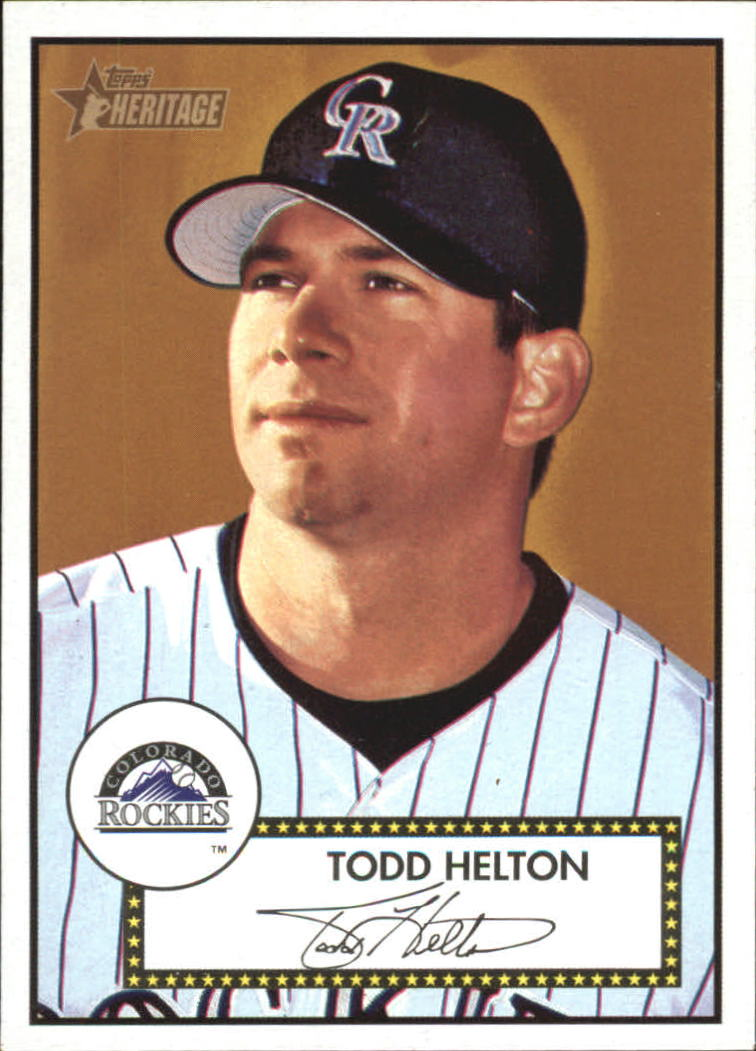 2001 Topps Heritage #7 Todd Helton