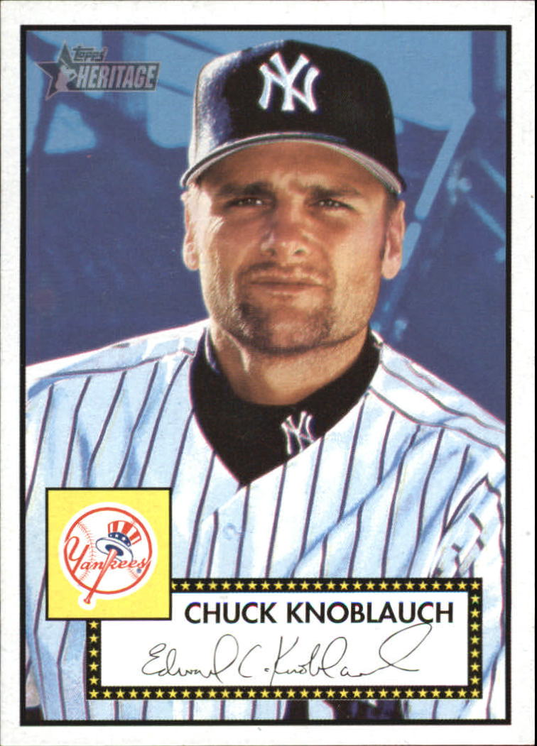 2001 Topps Heritage #10 Chuck Knoblauch