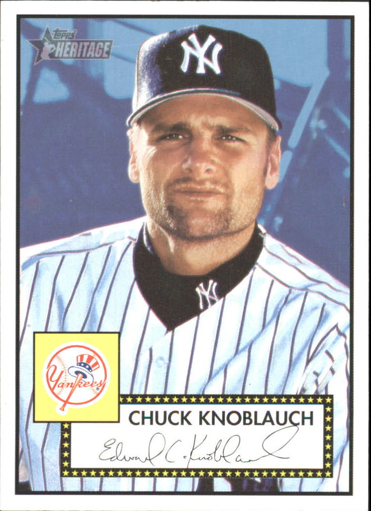 2001 Topps Heritage #10 Chuck Knoblauch Black