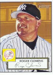 2001 Topps Heritage #48 Roger Clemens Black