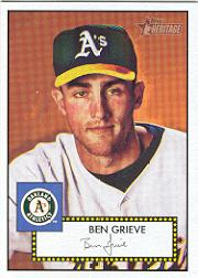 2001 Topps Heritage #53 Ben Grieve Black