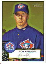 2001 Topps Heritage #75 Roy Halladay Black