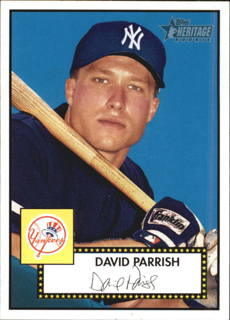 2001 Topps Heritage #154 David Parrish RC