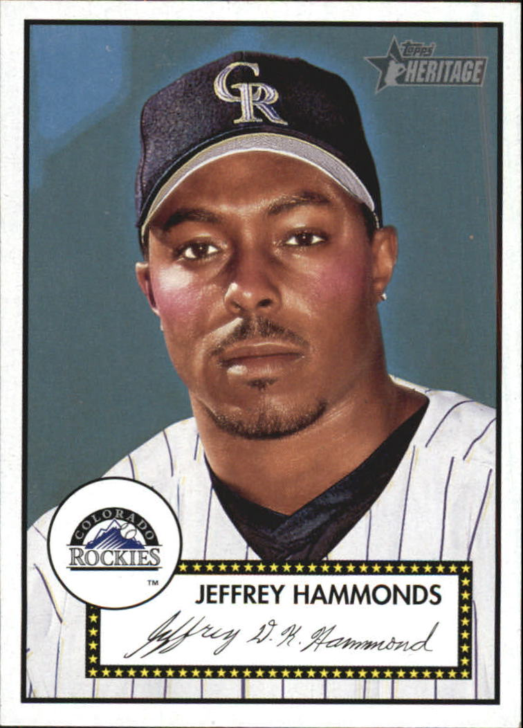 2001 Topps Heritage #186 Jeffrey Hammonds