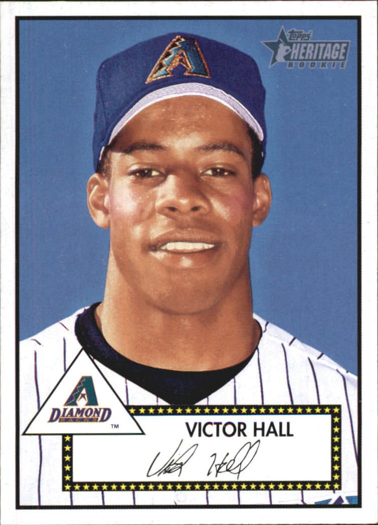 2001 Topps Heritage #293 Victor Hall RC