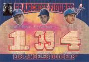 2001 Topps Tribute Franchise Figures Relics #RSC Pee Wee Reese/Duke Snider/Roy Campanella A