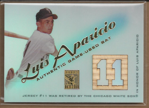 2001 Topps Tribute Game Bat Relics #RBLA Luis Aparicio 1