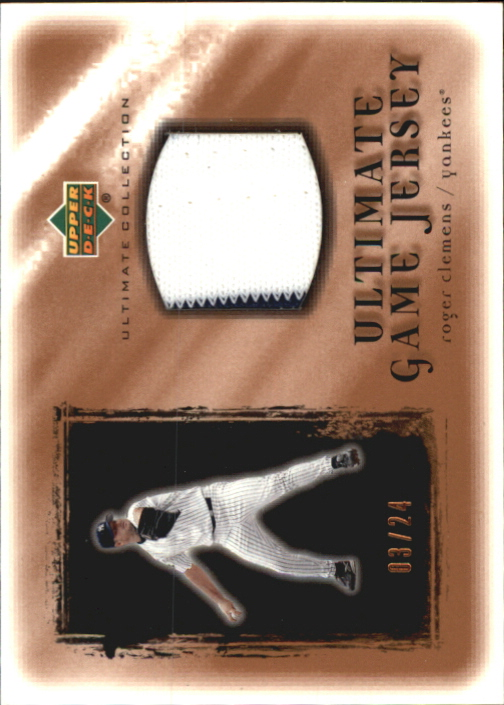 2001 Ultimate Collection Game Jersey Copper #URC Roger Clemens